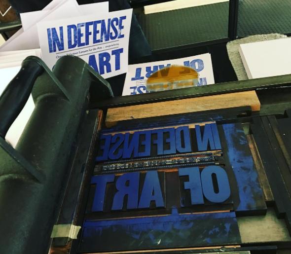 Letterpress print demo by Tony Marostica at Wheelhouse Letterpress