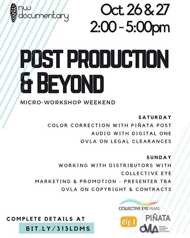 We'll be talking film clearances and ownership  @nwdoc's Post Production & Beyond event. Tickets available through NW Doc!
