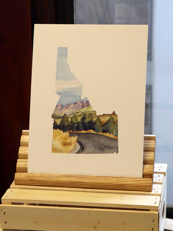 The Gap at Gibson Jack Watercolor, 2018.