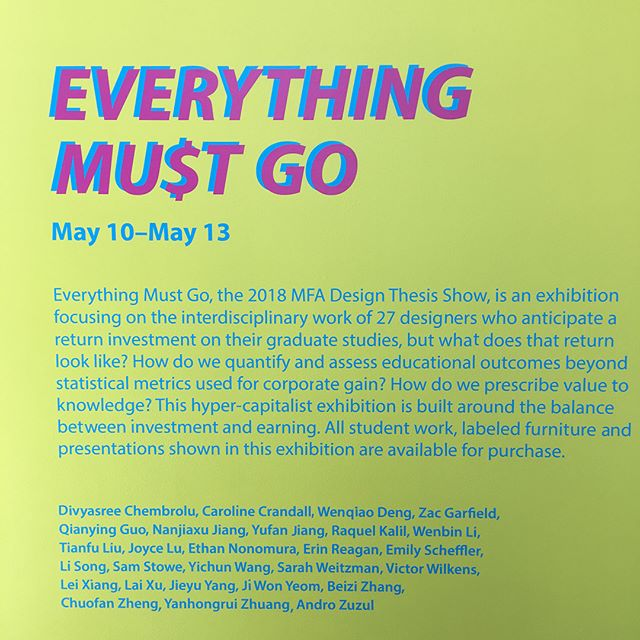 I'll be showing my Master's thesis work at the Hubbell Street Galleries - opening this Thursday from 5-8p. Everything is for sale down to the pedestals, and, for the right price, some of the designers. So if you wanna talk about perversion of the multiuse object, how to negate the known, or how to make a not-shoe come check it! Also, the whole campus is going nutso, so much stuff to see!  @everythingmustgocca #everythingmustgocca #forgivemeifyouvealreadyseenthispost