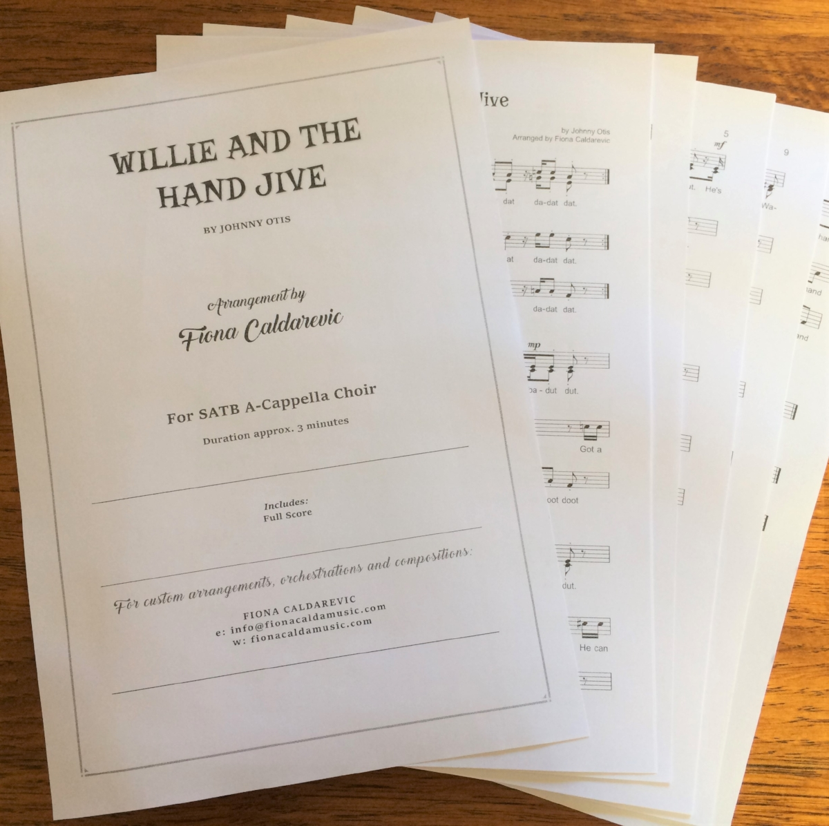 Willie and the hand jive sheets.JPG