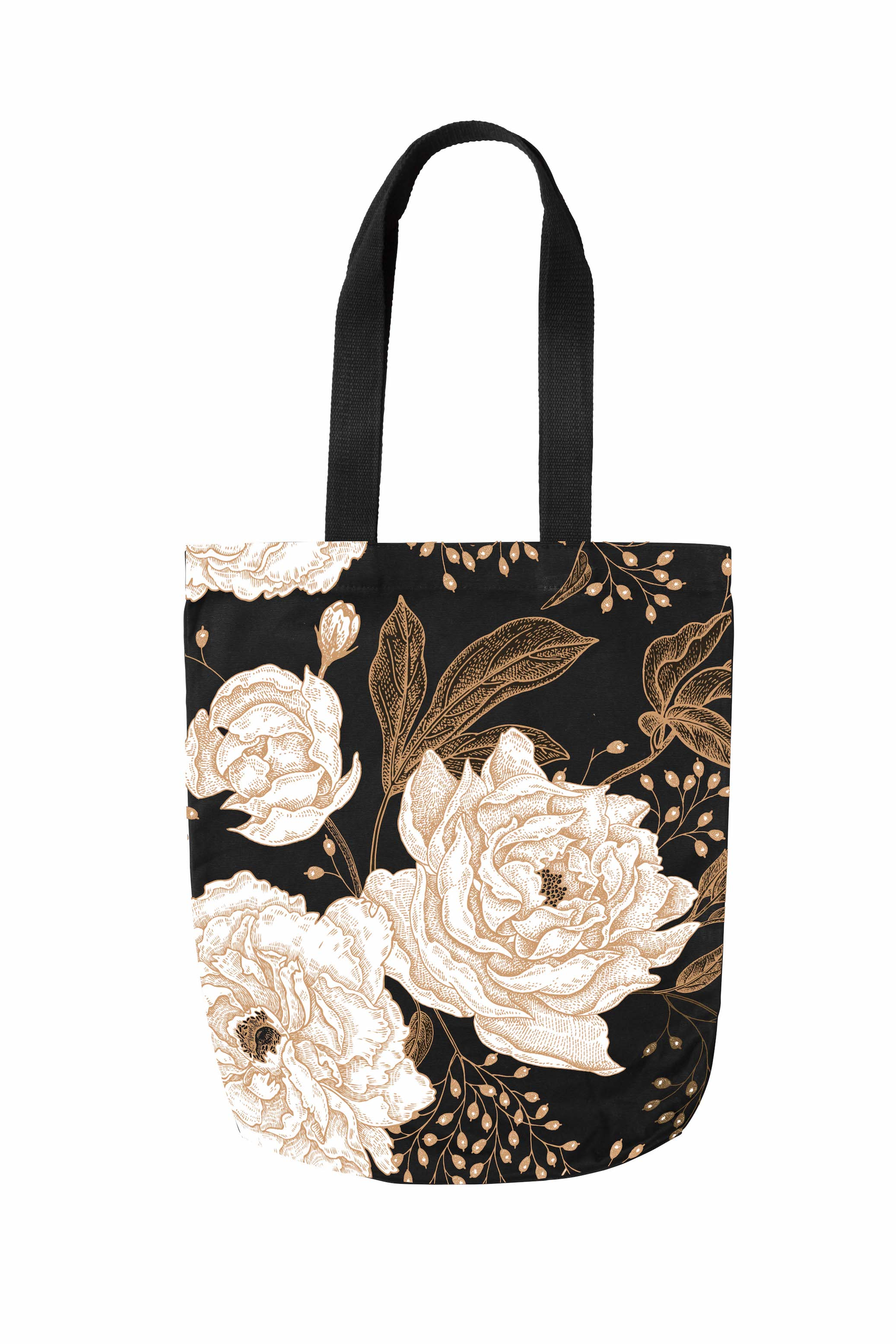 Floral-DTS-007A Eco Fashion Tote Black.jpg