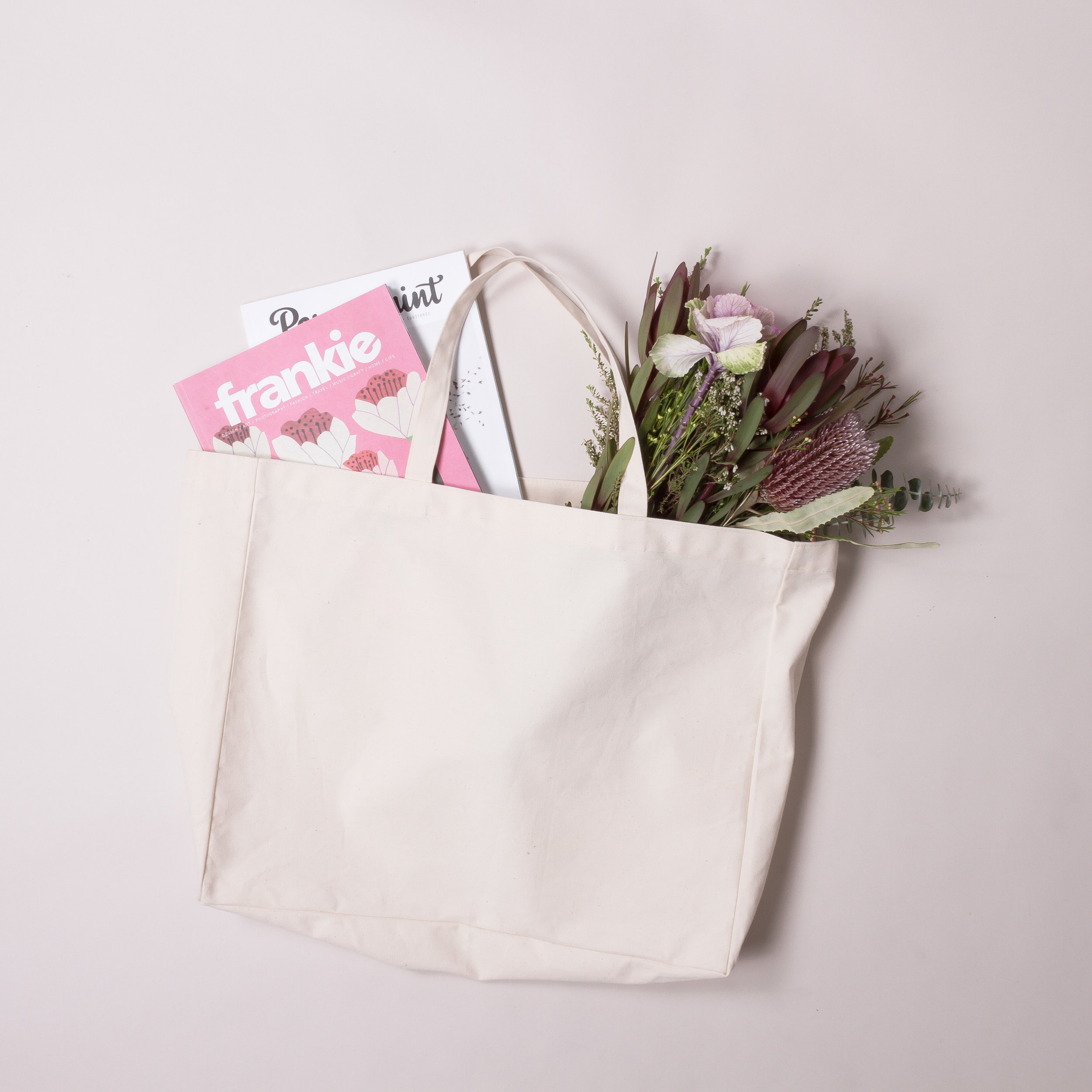 Visit our sister site, ECO-TOTE for plain stock bags. -