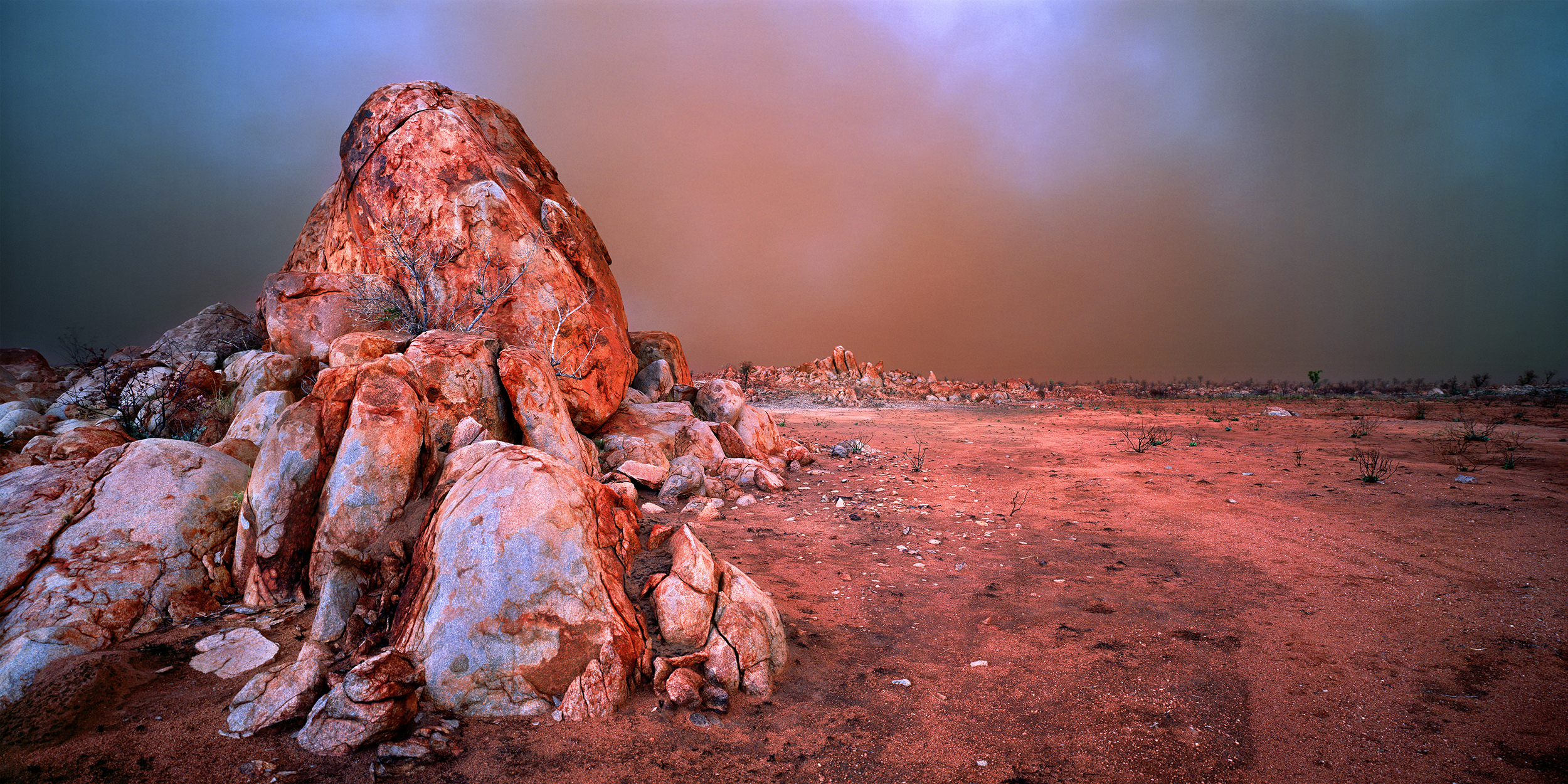 The Gods Must Be Angry, Dust Storm Near Marble Bar, Western Australia, 2005.  Edition of 250.
