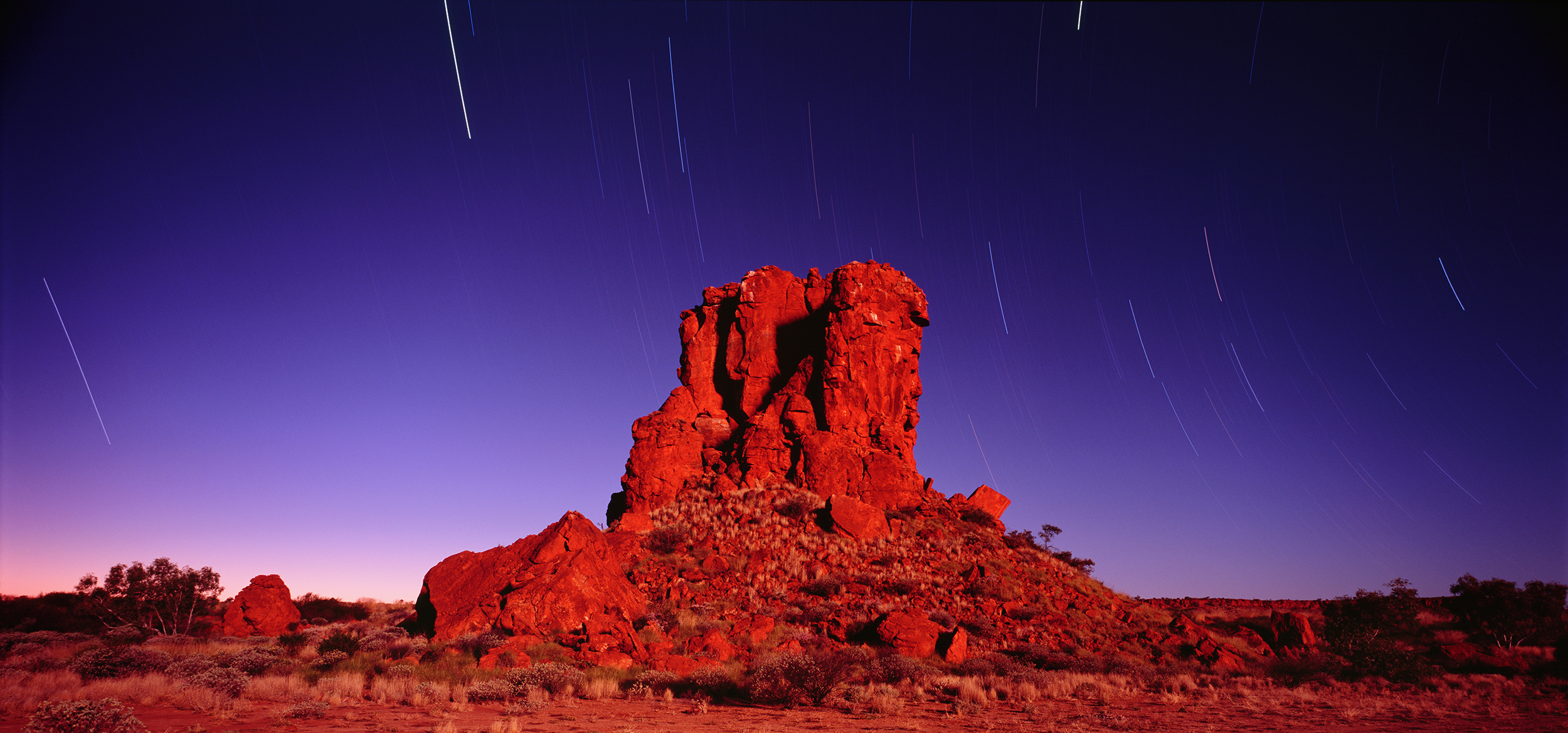 Star Trails, Hanging Rock, Rudall River National Park, Little Sandy Desert, Western Australia, 2011.