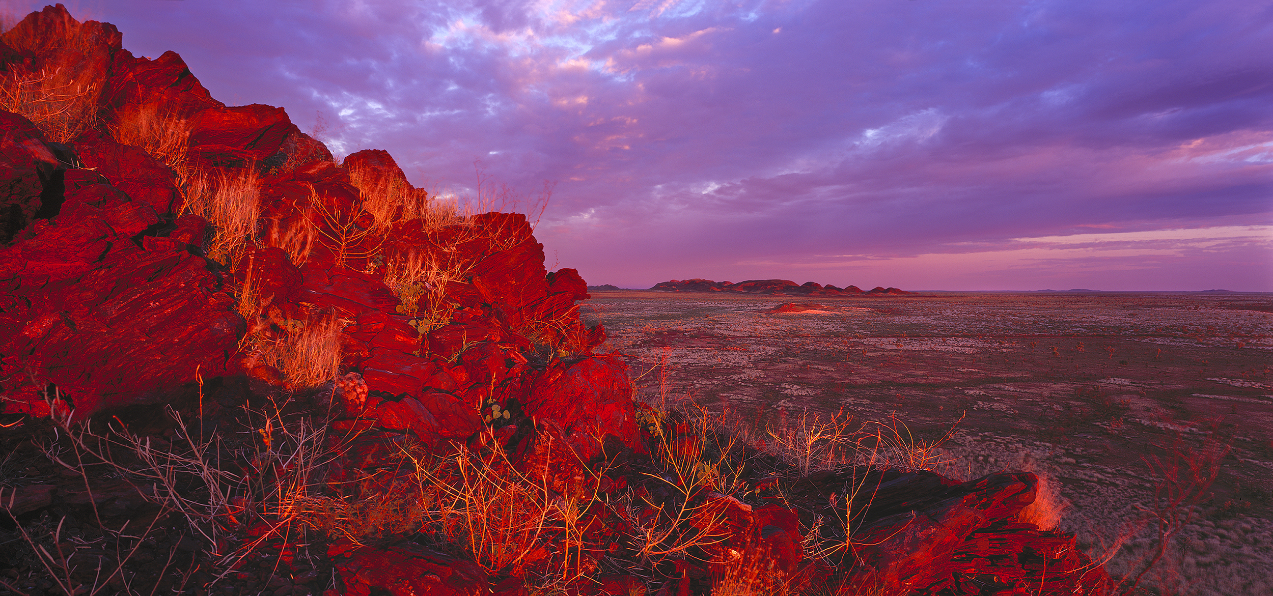 Sunrise near Yandeyarra, Pilbara, Western Australia, 2014.  Edition of 3.