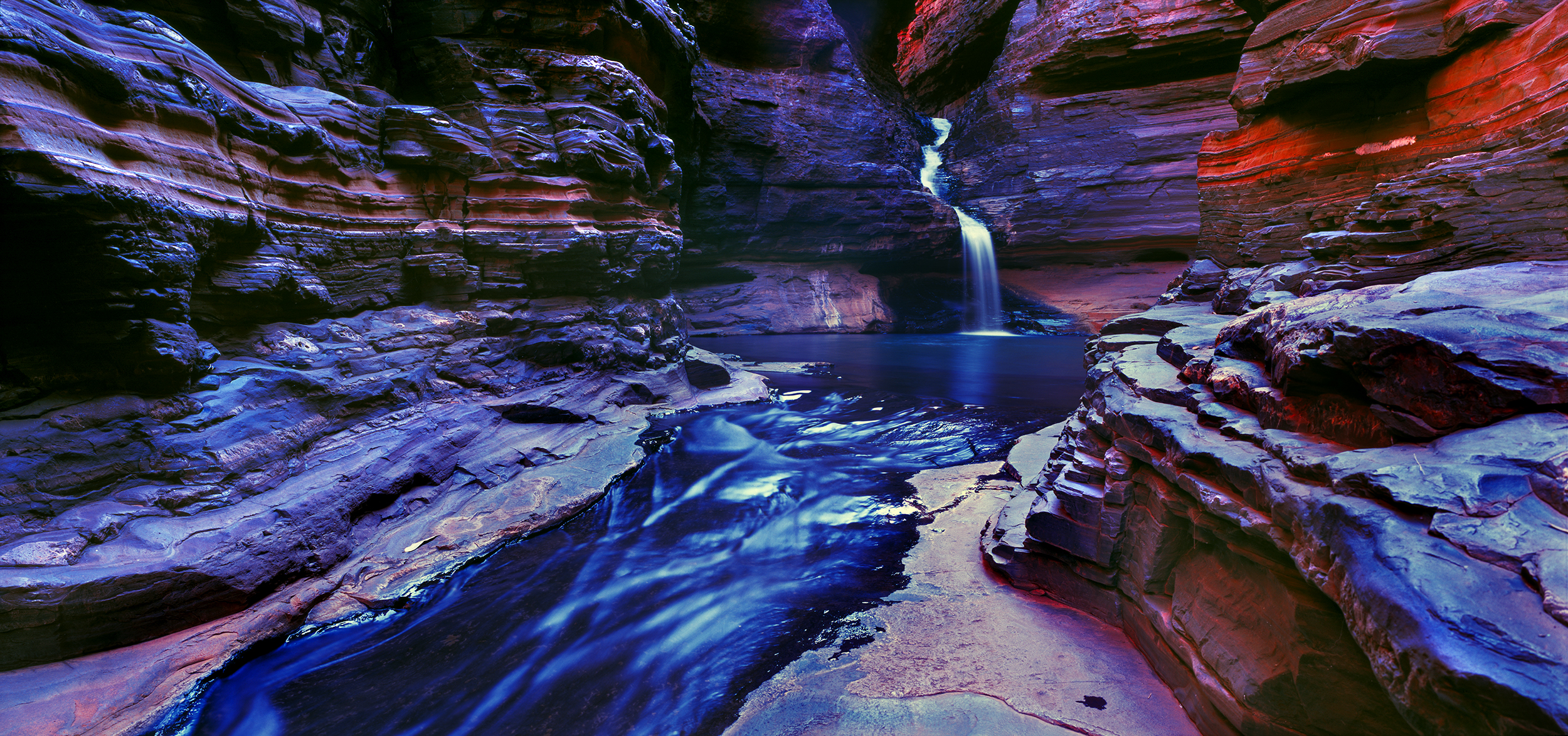 Regan's Pool, Karijini National Park, Hamersley Range, Western Australia, 2013.  Edition of 3.