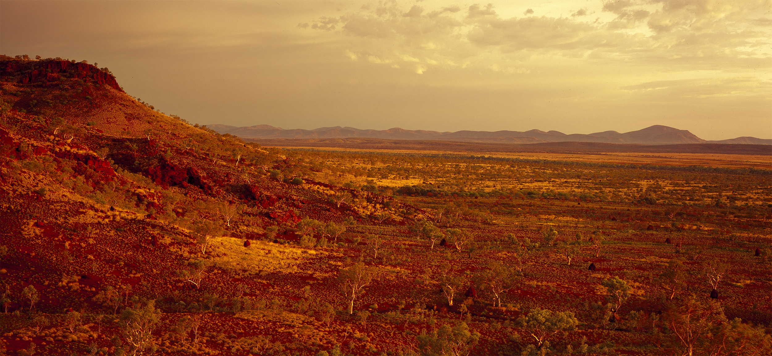 View Looking Toward Mt Brockman Across the Namuldi Flats, Hamersley Range, Western Australia, 2015. Edition of 3.