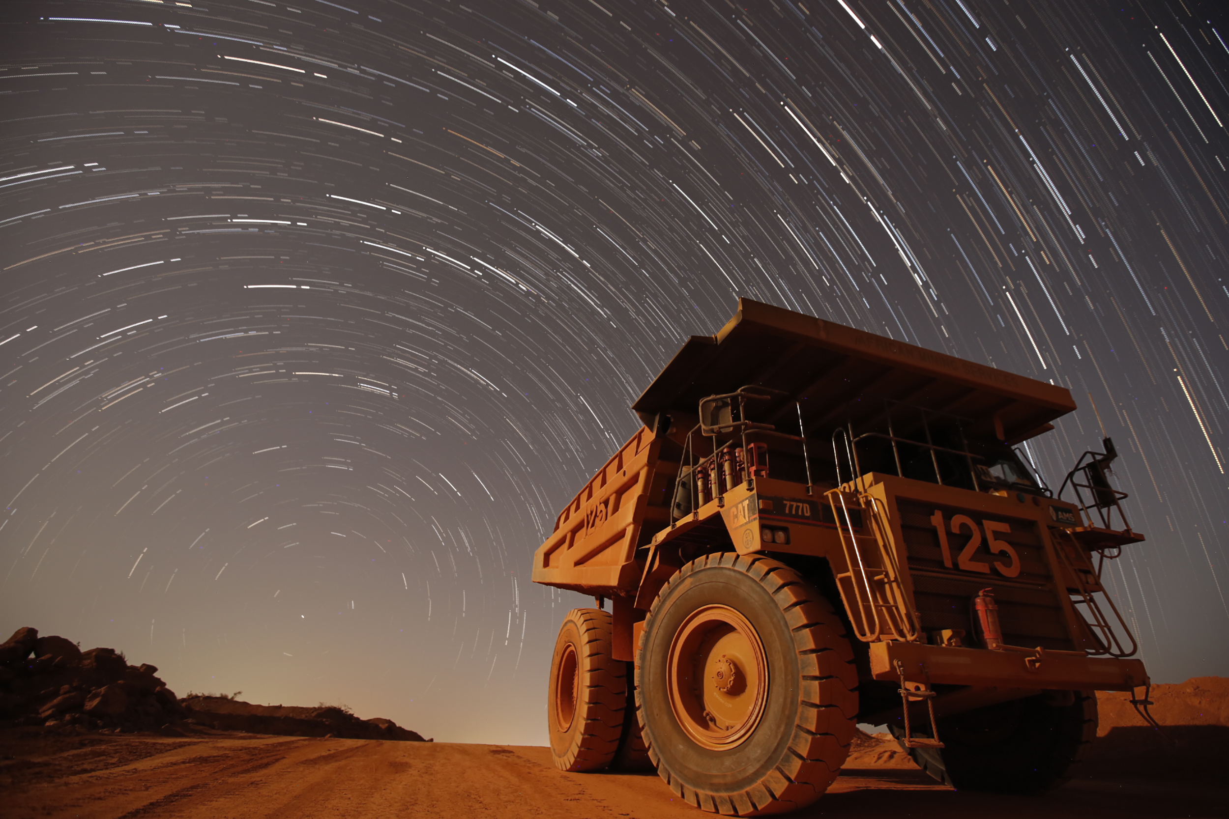 Star Trail, Siguiri Gold Project, Guinea, 2016. Edition of 3.