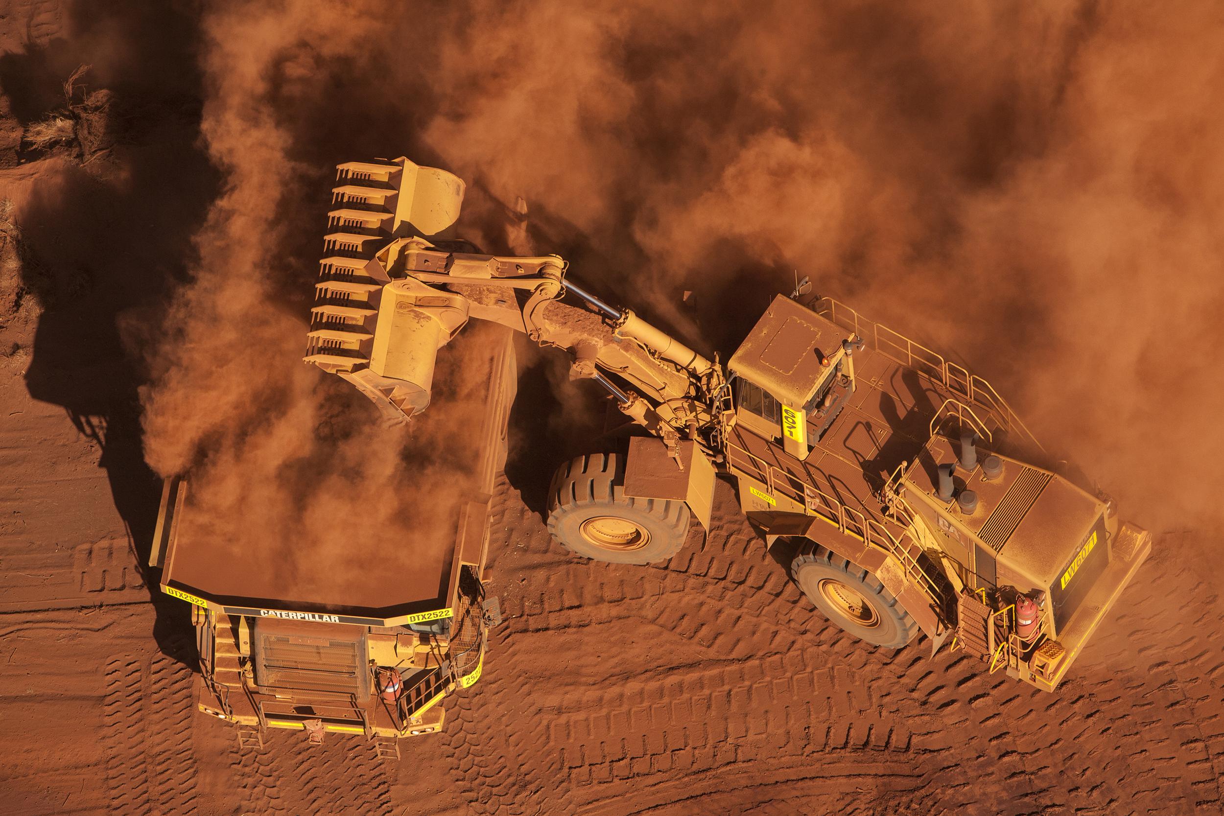 Cats in the Dust, Mesa A Mine, Pilbara, Western Australia, 2008. Edition of 3.