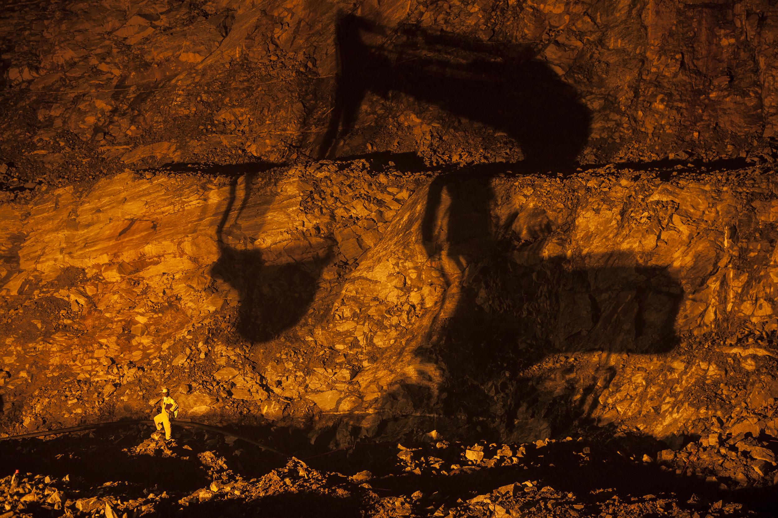 Digger Shadow, Damang Gold Mine, Ghana, 2006. Edition of 3.
