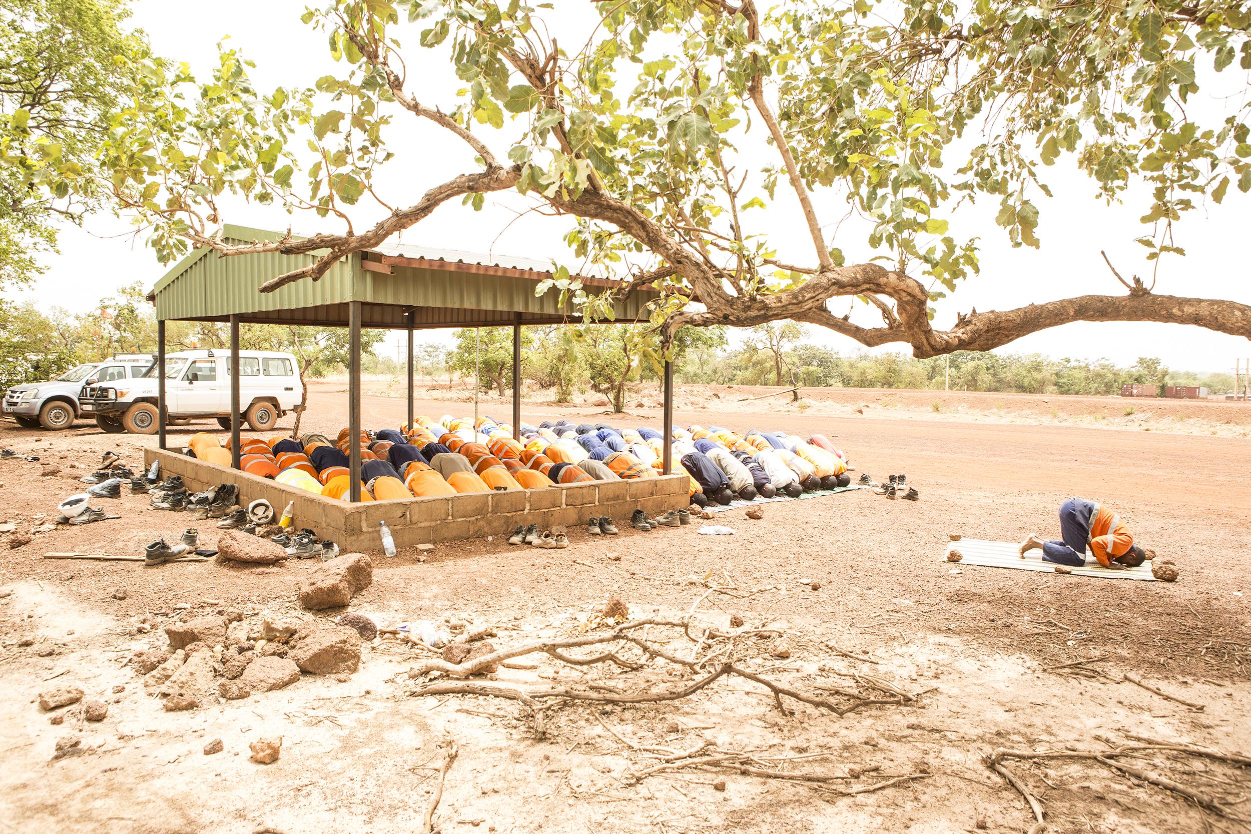 Lunchtime Prayer Session, Sabodala Gold Mine, Senegal, 2012. Edition of 3.