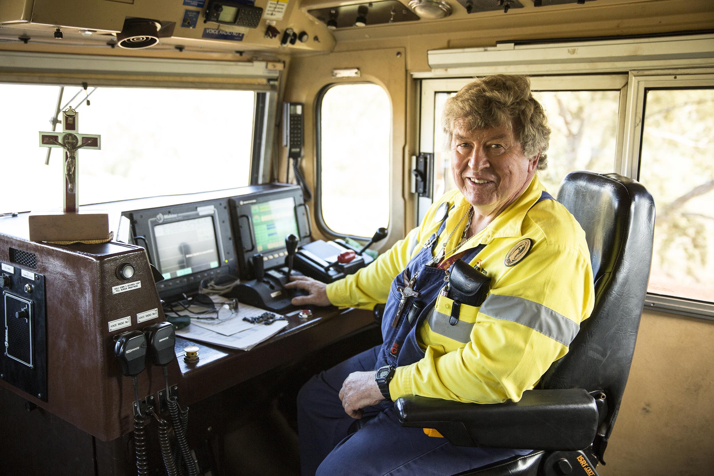 Kerry Stubbs, Train Driver, Rio Tinto, 2013. Edition of 3.