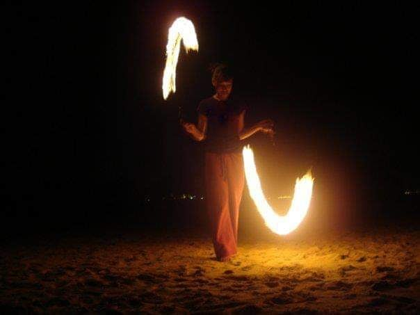 I had to post this major throwback photo.  It's been 10 YEARS since fire was lit! Thank you @liqkha for introducing me to the art of playing with fire!  #firepoi #poi