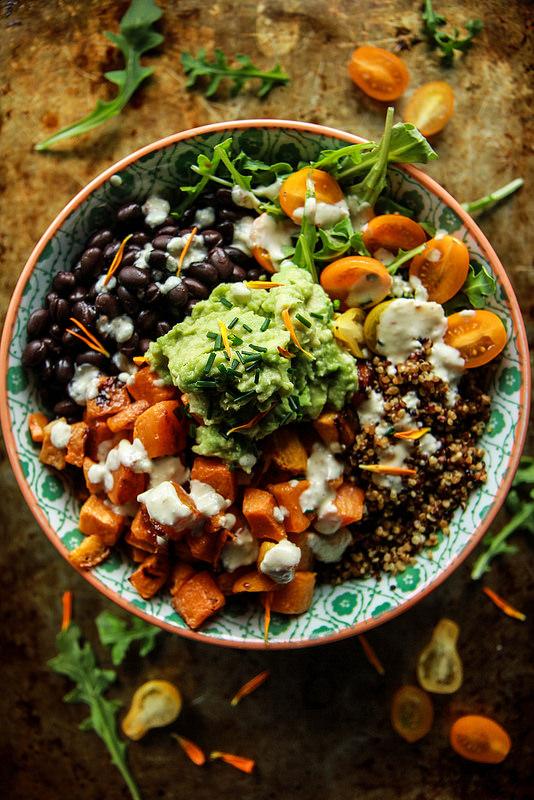 Wednesday - Cuban quinoa bowl with spicy lemon cashew dressing