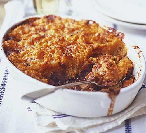 Monday - Veggie shepherd's pie with sweet potato mash