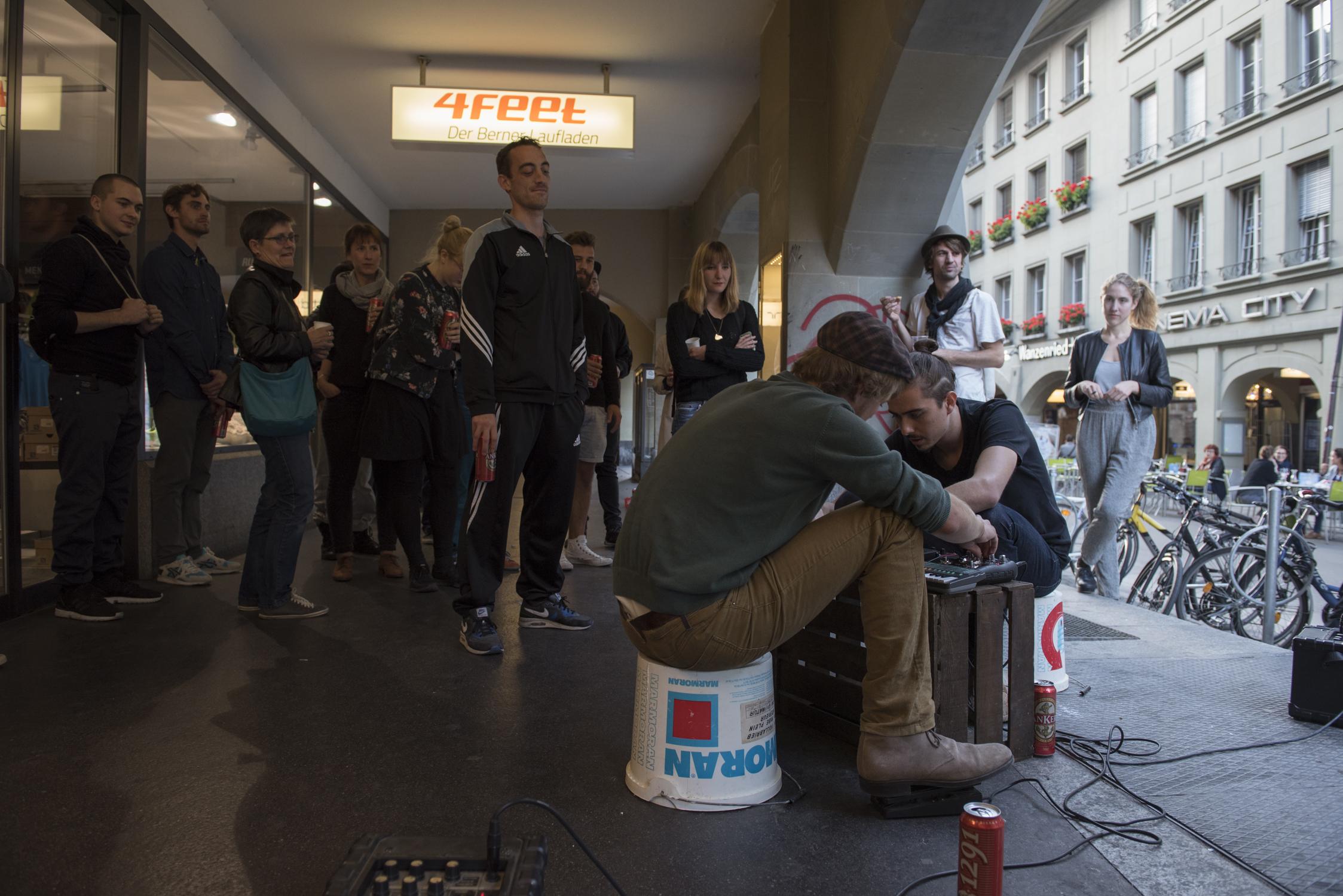 Sound-Performance von  David Bregenzer  und  Jonas Weber , September 2014