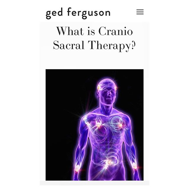 My first blog post is live! ⚡️ WHAT IS CRANIO SACRAL THERAPY? ⚡️check it out! Link in bio x