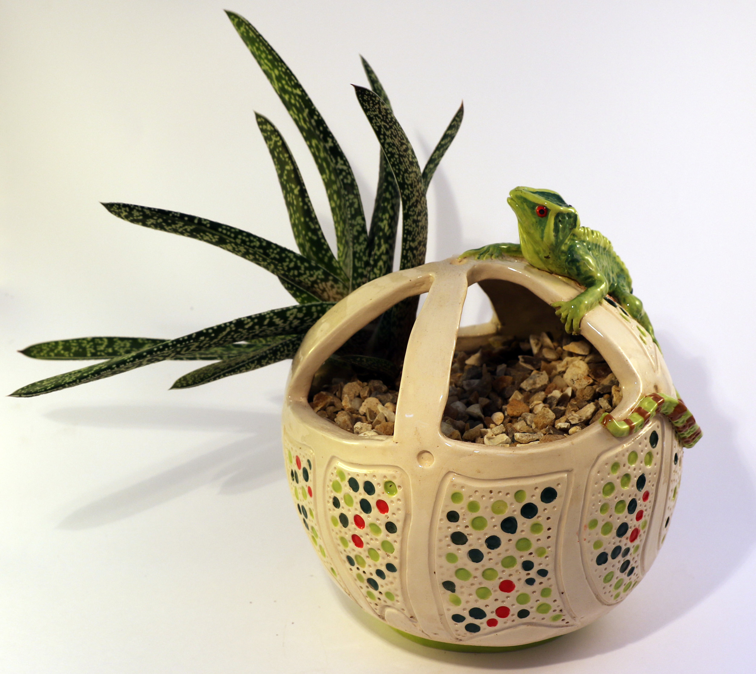 christine norris - website Lizard large planter with Aloe.jpg