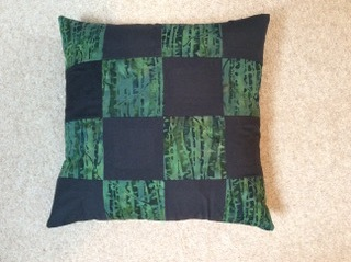 ann warren made in bradford on avon green and black cushion.jpg