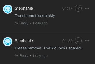 vimeo review comments