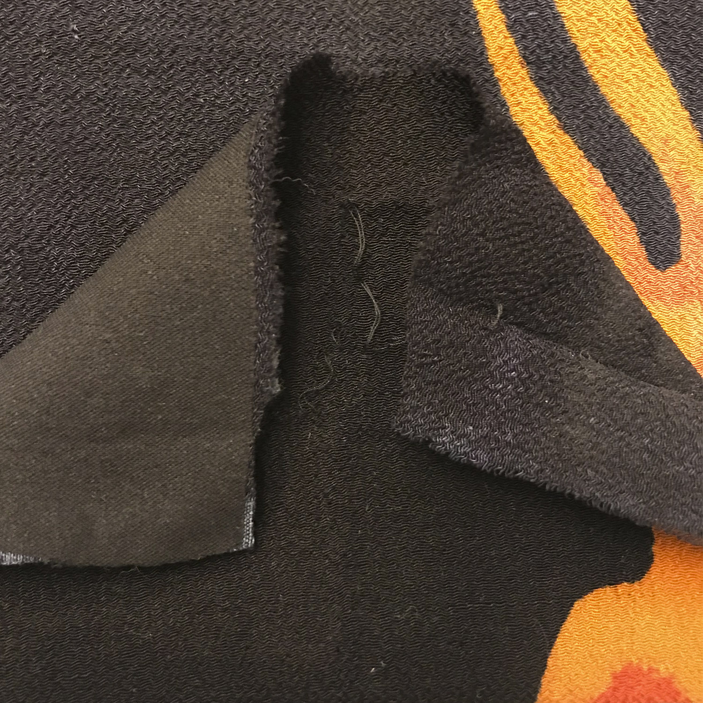 "Testing if the fusible interfacing (aka ""fusing"") won't damage the silk chirimen"