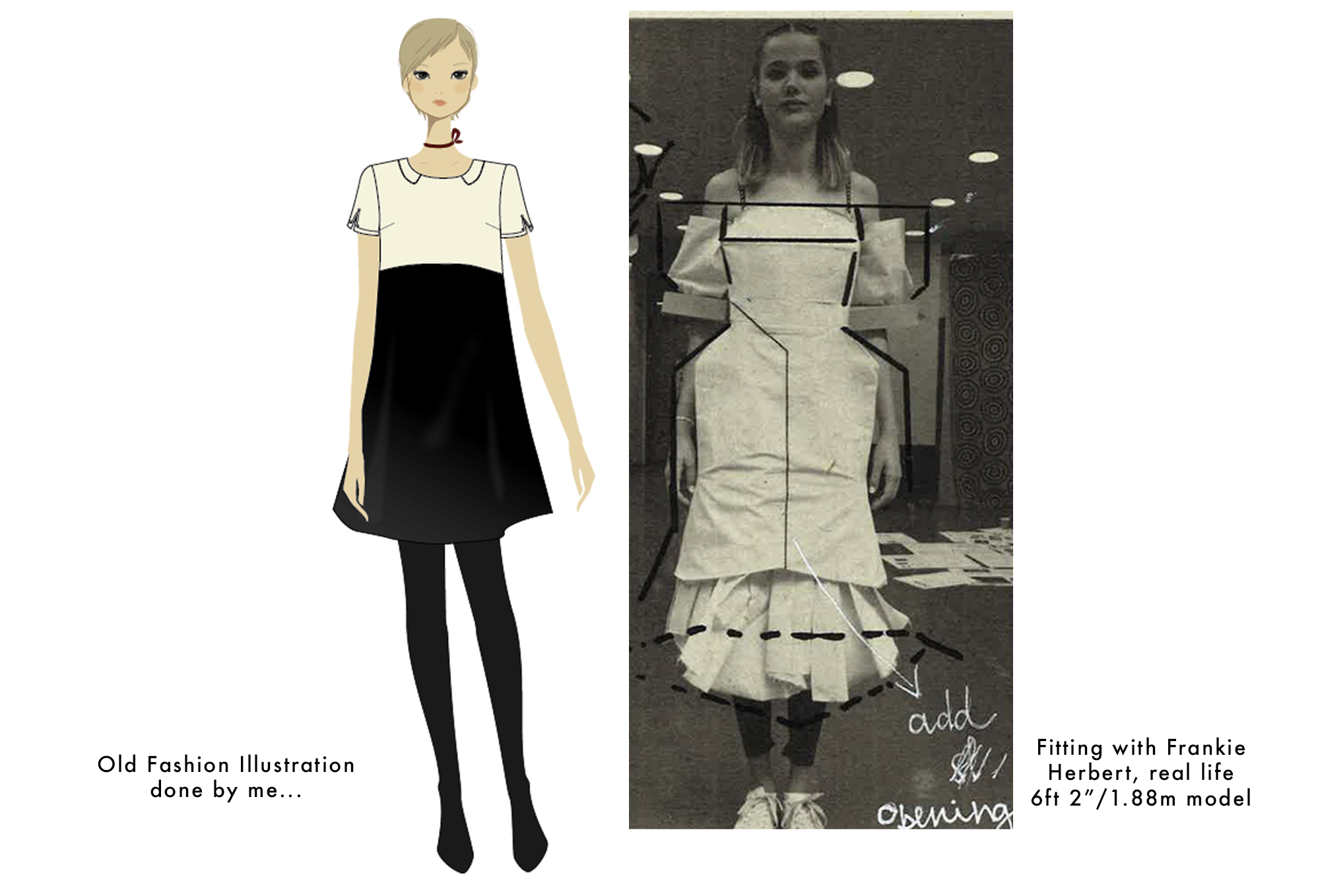 An old Fashion Illustration by moi: Unrealistic standards much?