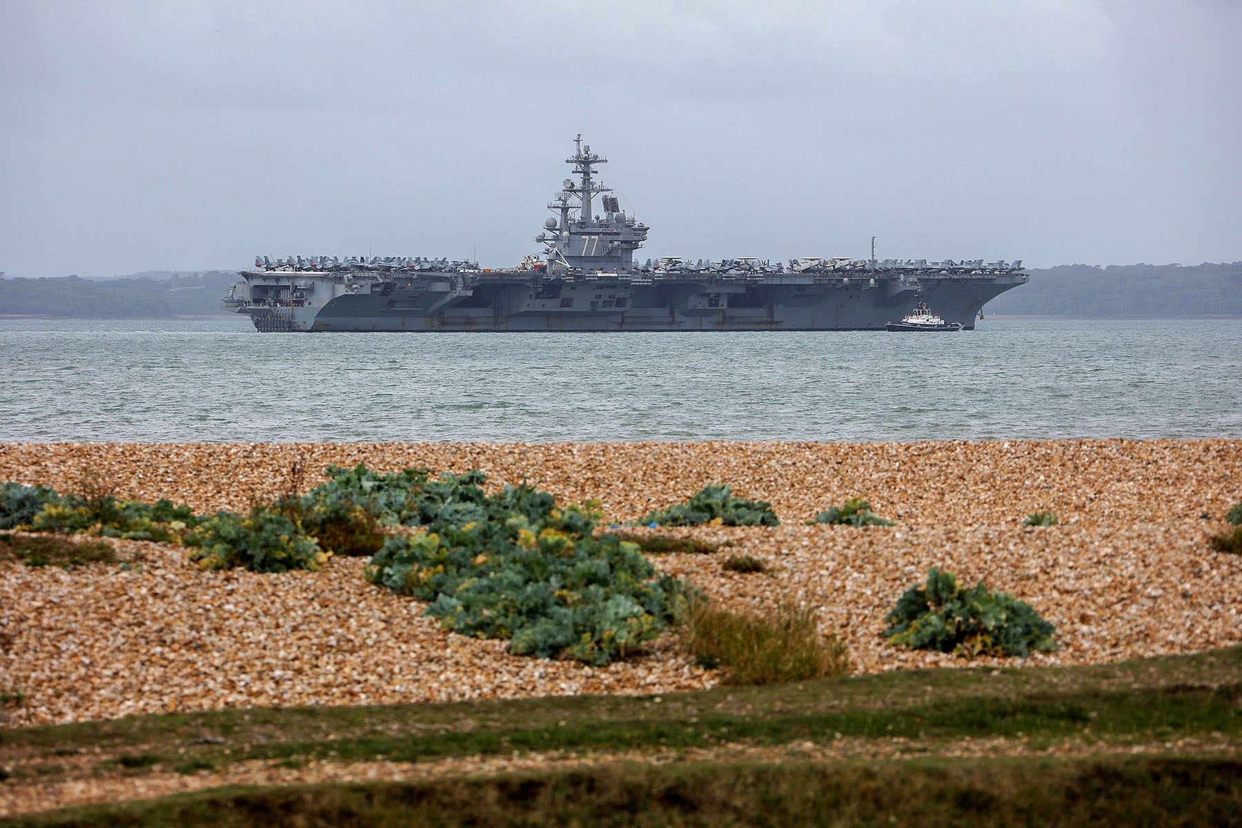 Aircraft carrier USS George HW Bush pays Portsmouth a visit 1.jpg