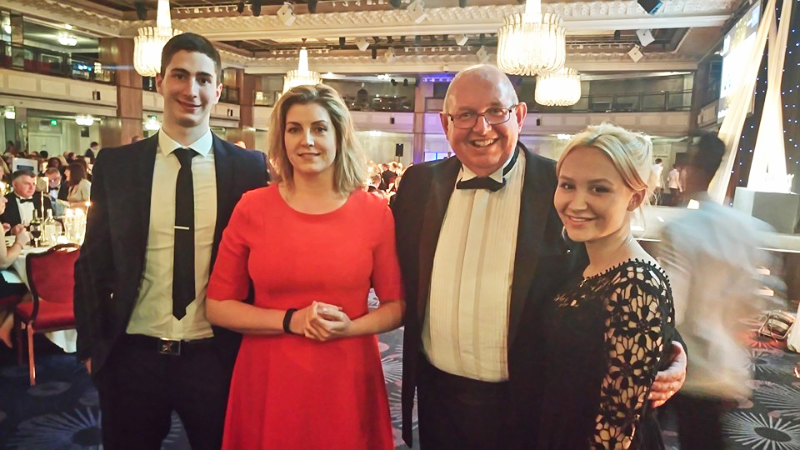Pictured above: From left: Gerhard Spitsak, Penny Mordaunt MP, Steve Frampton MBE, and Megan Wade