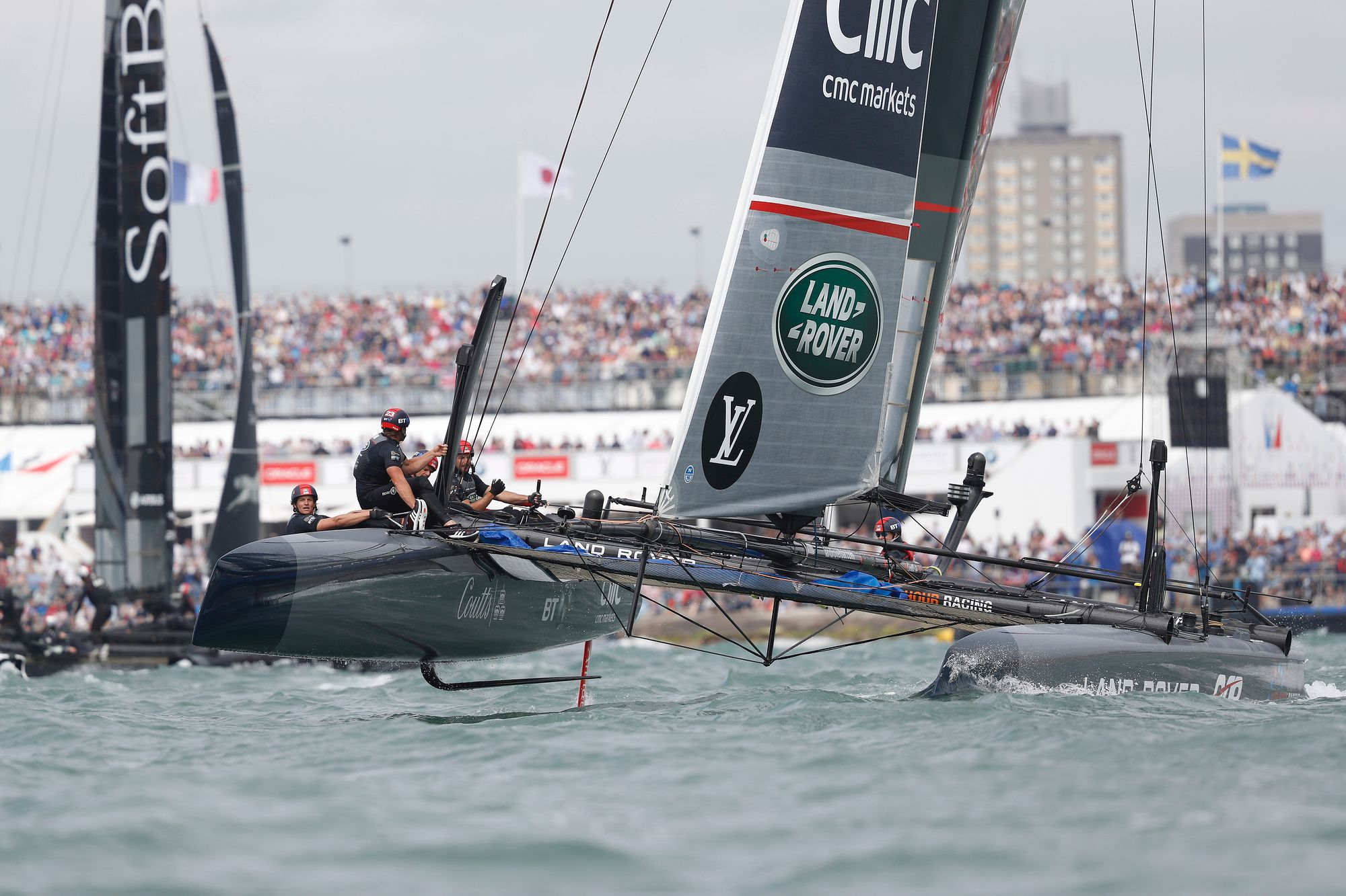 Home team Land Rover BAR win America's Cup World Series Portsmouth