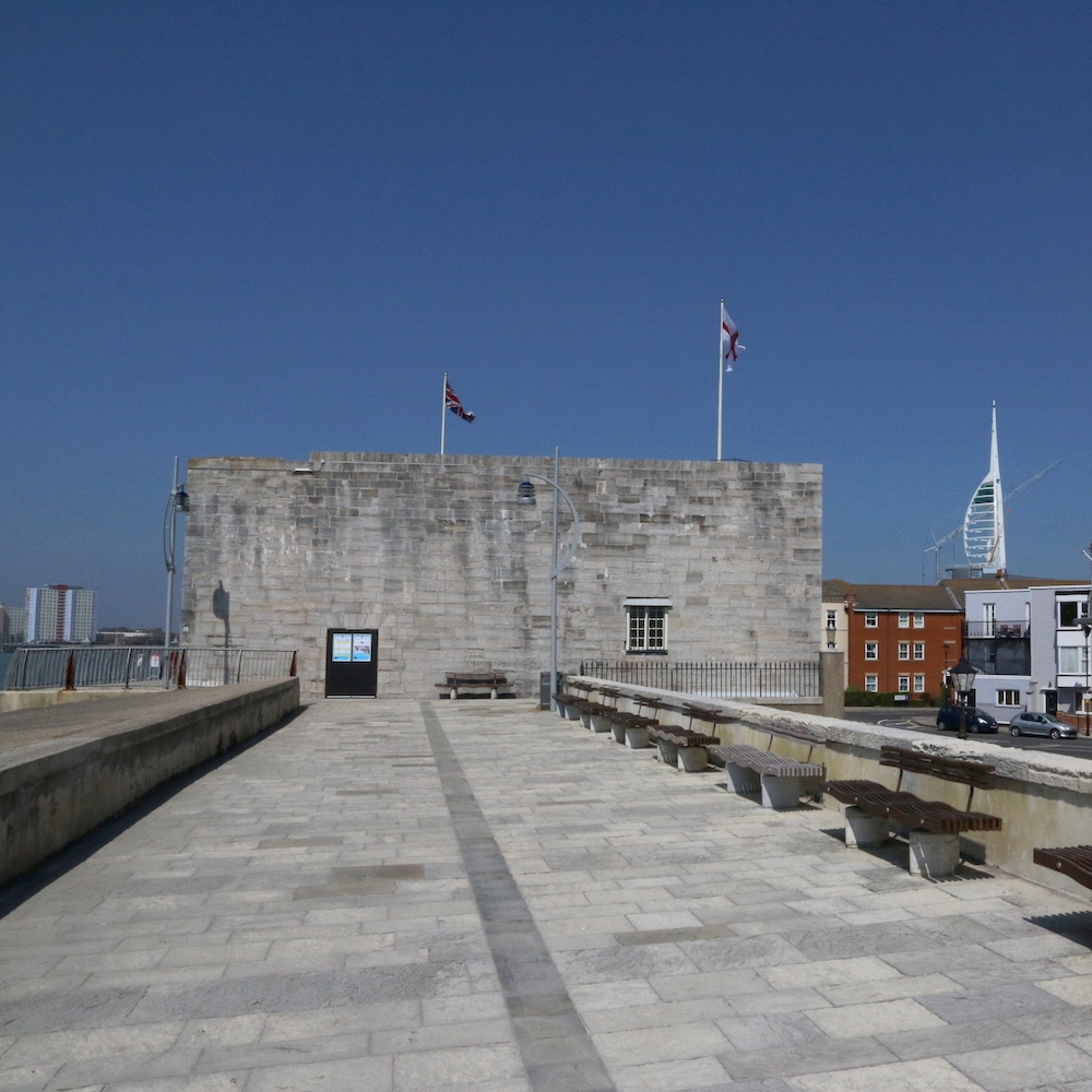the square tower, Old portsmouth -
