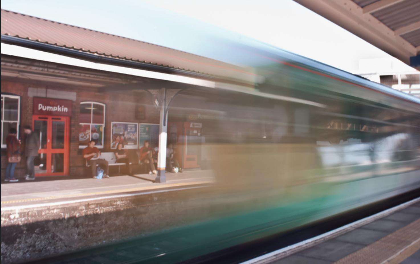 By Train -