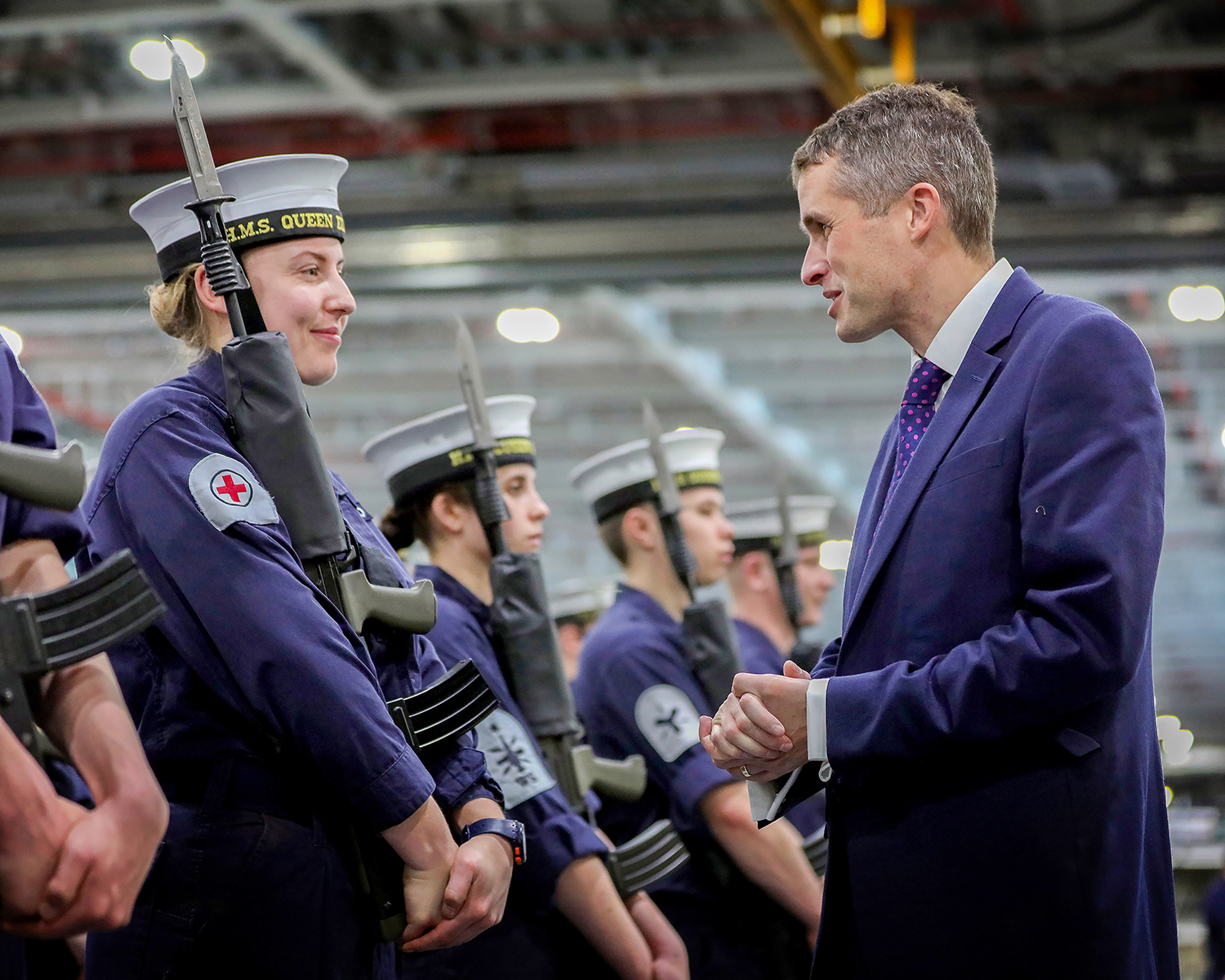 Secretary of State for Defence, Rt Hon Gavin Williamson MP, visited HMS Queen Elizabeth