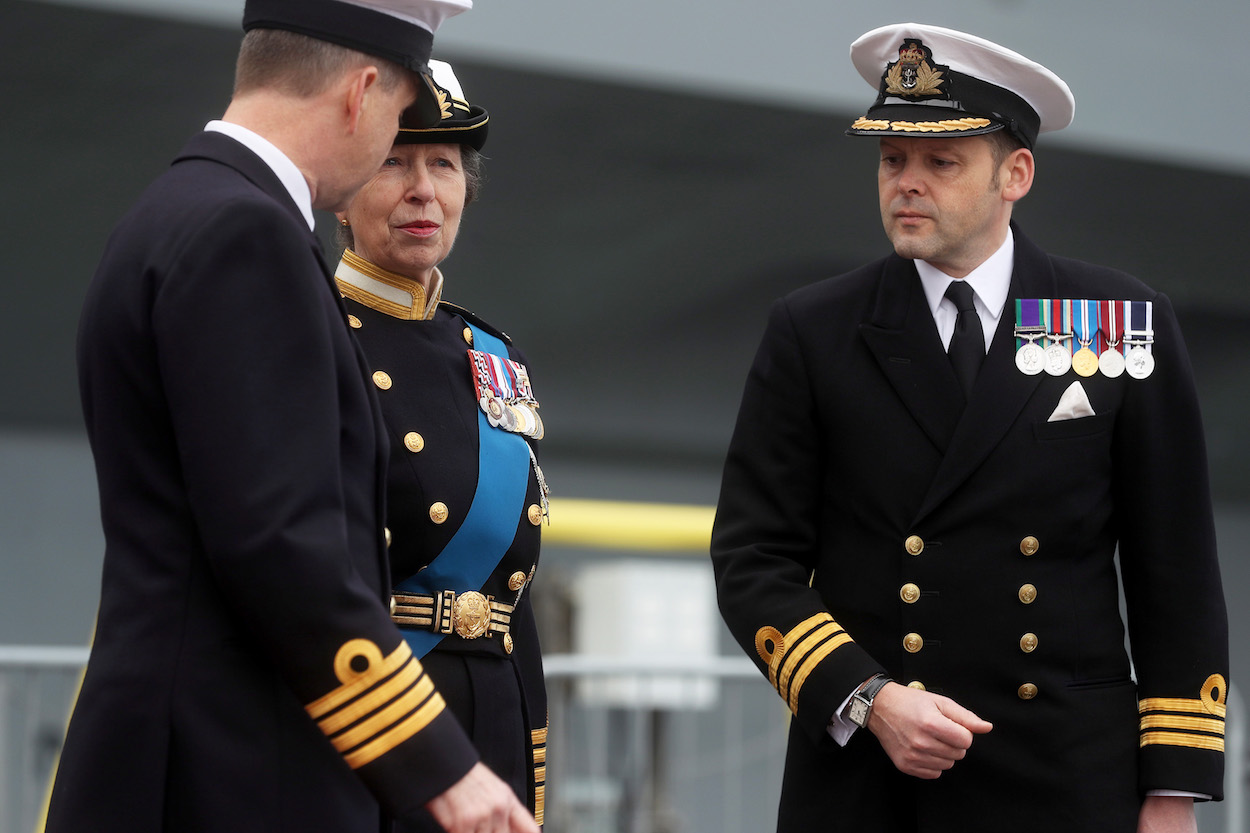 HRH the Princess Royal at the commissioning of HMS Queen Elizabeth.