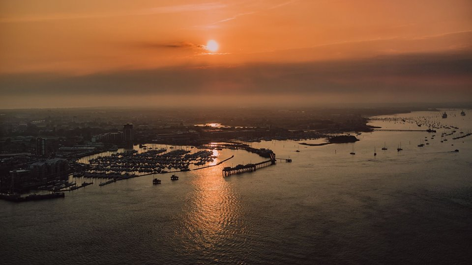 Sunset over Portsmouth
