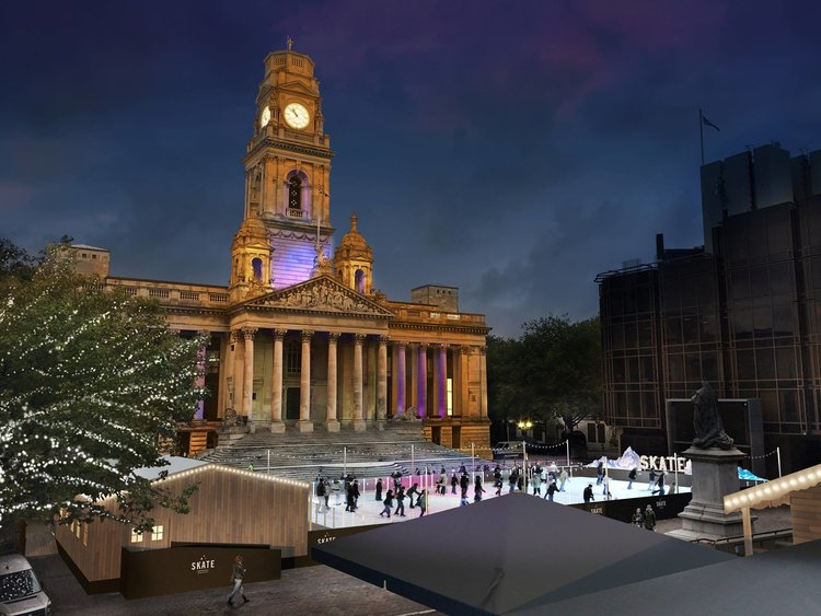 portsmouth guildhall square ice rink
