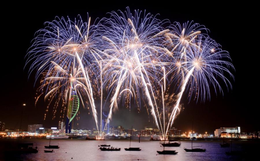 Gunwharf Fireworks
