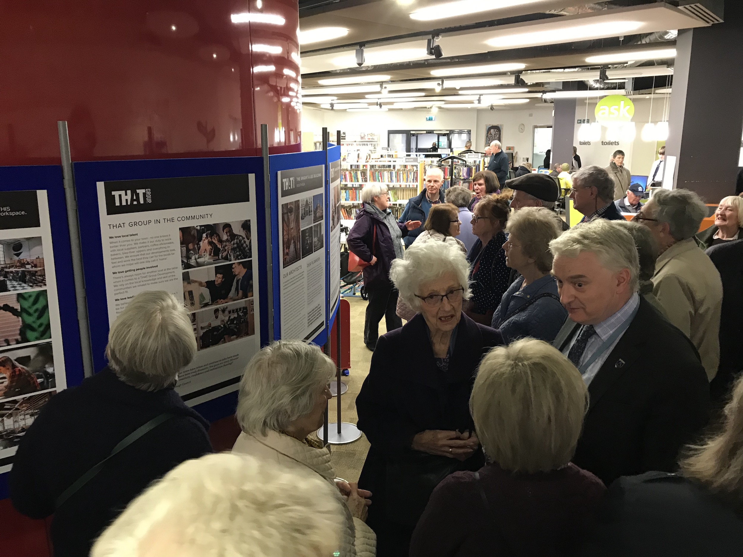IMAGE showing THE PUBLIC CONSULTATION AT SOUTHSEA LIBRARY