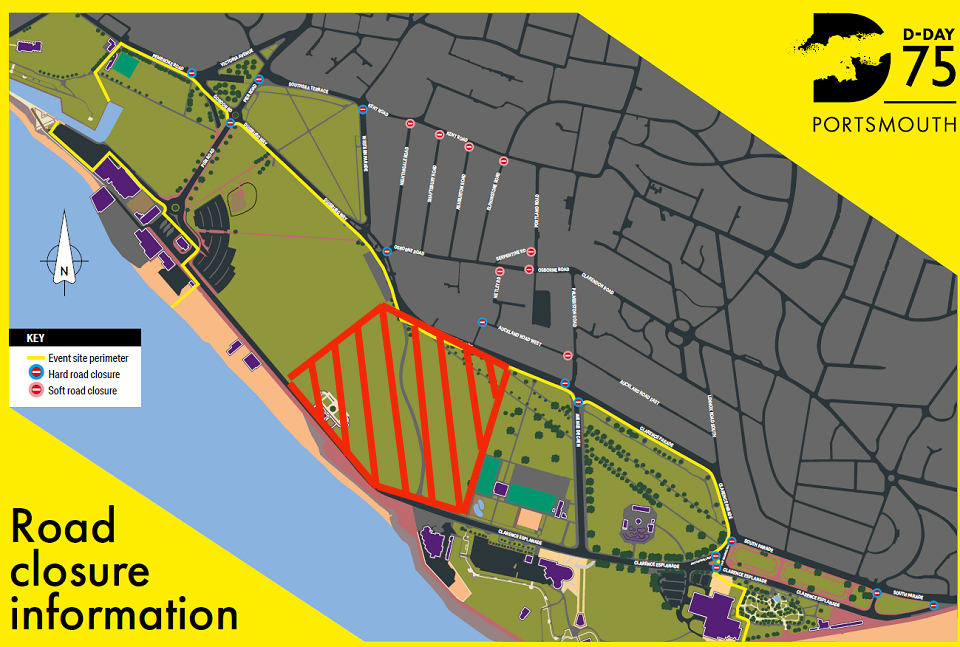 DDay-Portsmouth-Road-site-closure-map