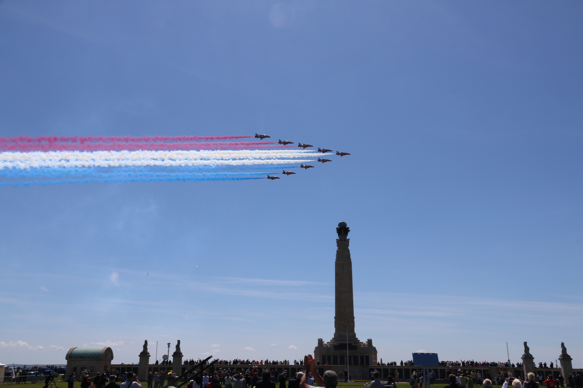 red arrows at southsea common for d-day events
