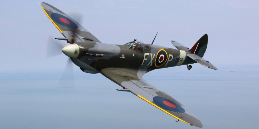 spitfire flyby for d-day