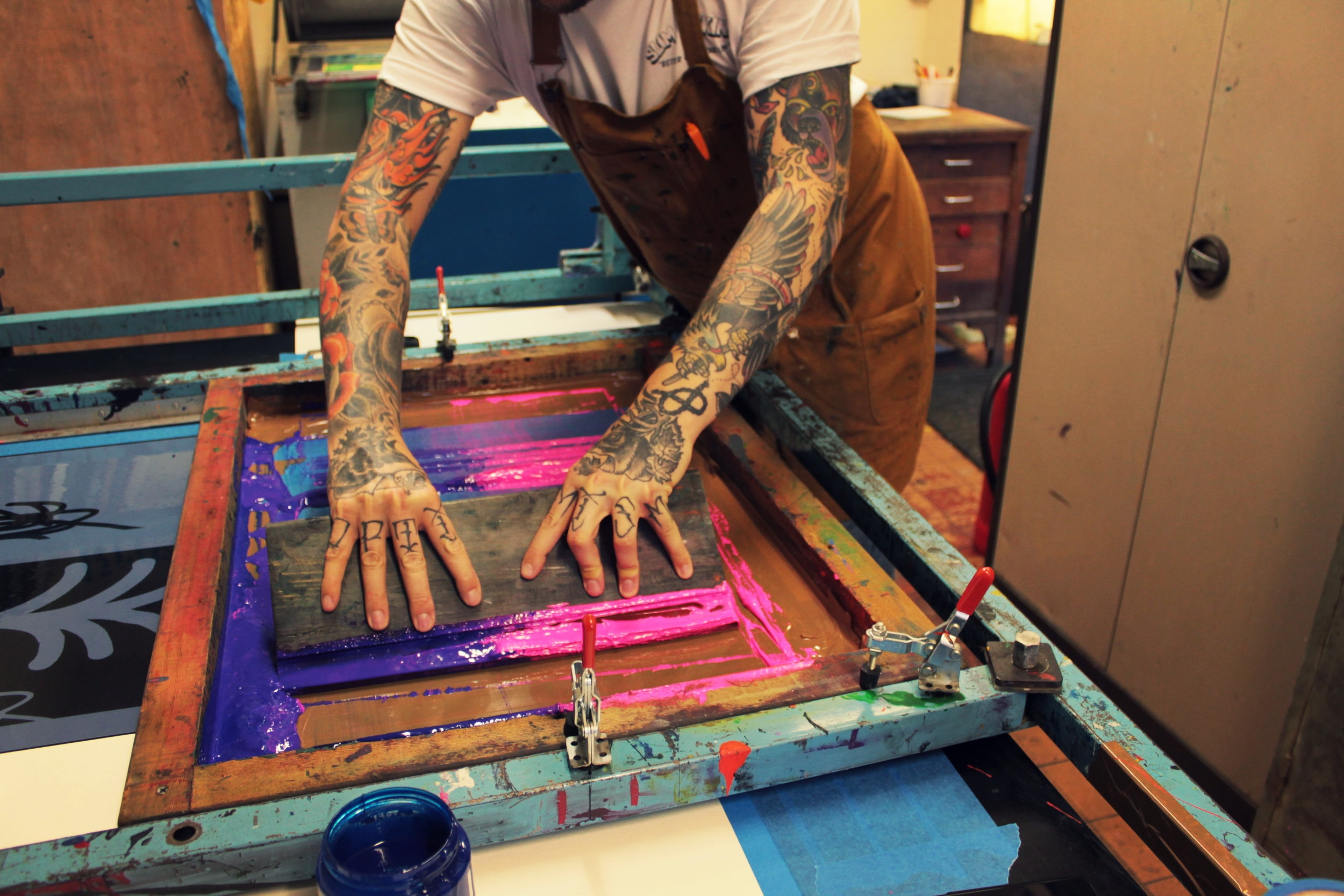 We print for you - Almost anything can be screen printed, and we can offer services to businesses and individuals looking for that personal hand finished, unique product.