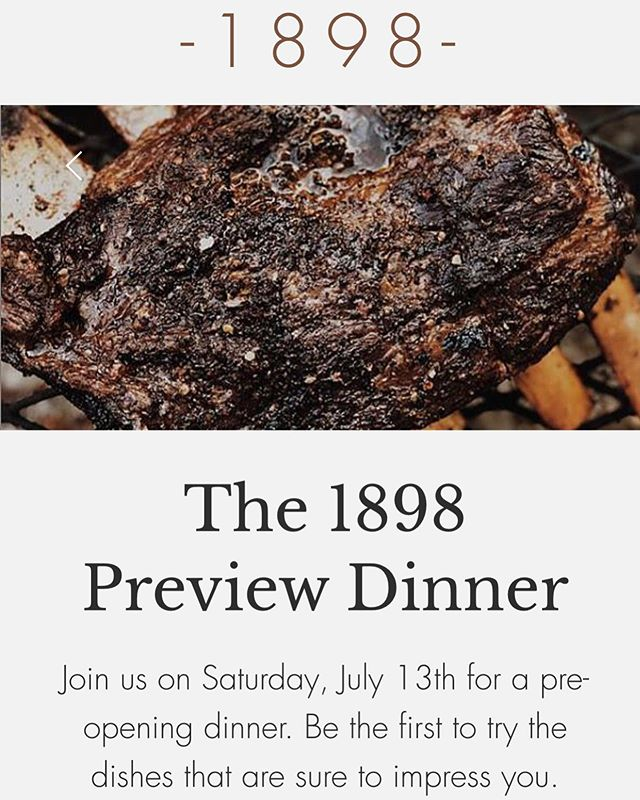 OK reservations are open! Here's your chance to be a part of shaping our menu. Sign up quick before spots fill. Very limited. Link in bio @1898lockhart