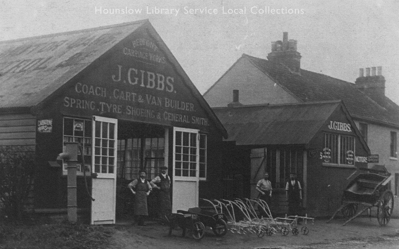 Gibbs,-J,-Carriage-Works-Premises-on-Staines-Rd,-Bedfont,-c1920,--LS4376.jpg