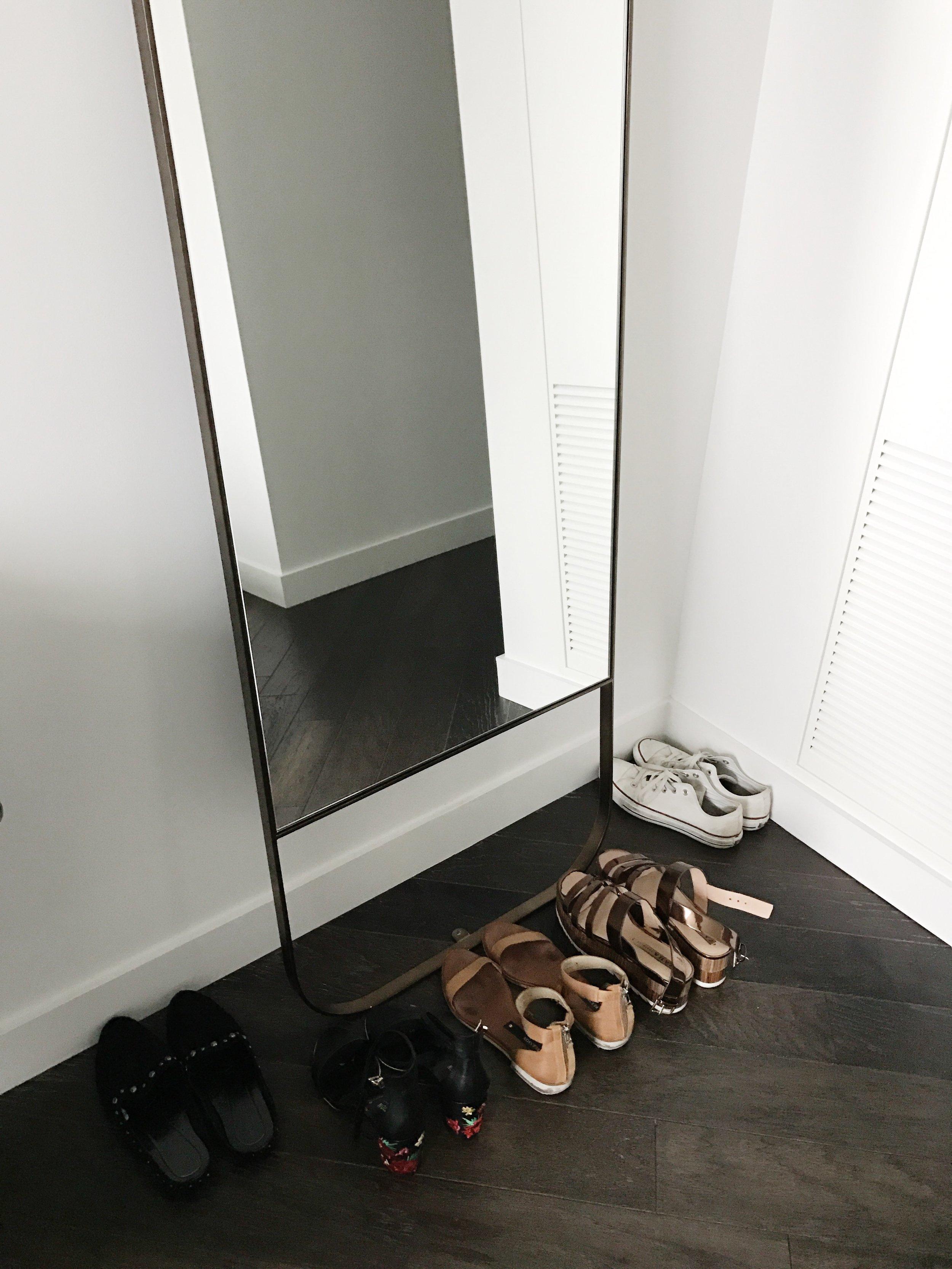 Shoes (Left to Right)  |  DJPliner Slides  |  Kenneth Cole Embroidered Heel  (on sale $49.97) | Matt Bernson Leather Flat |  Metallic Platform  |  Converse