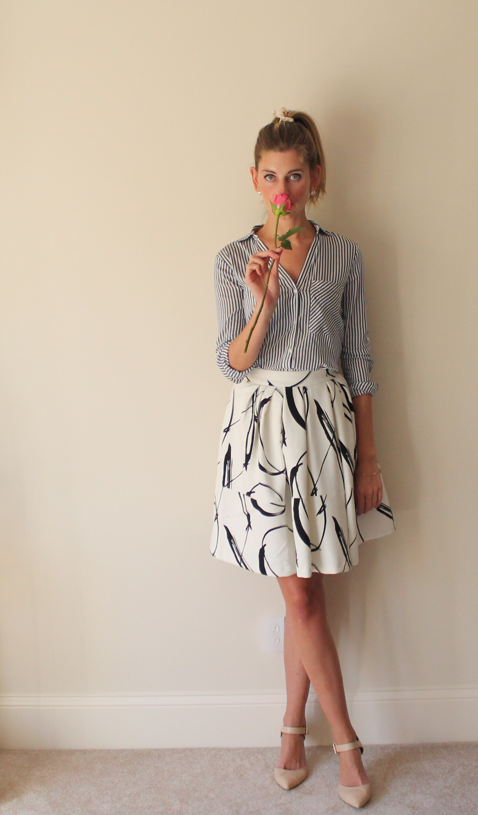 Pleated Skirt Outfit for Work