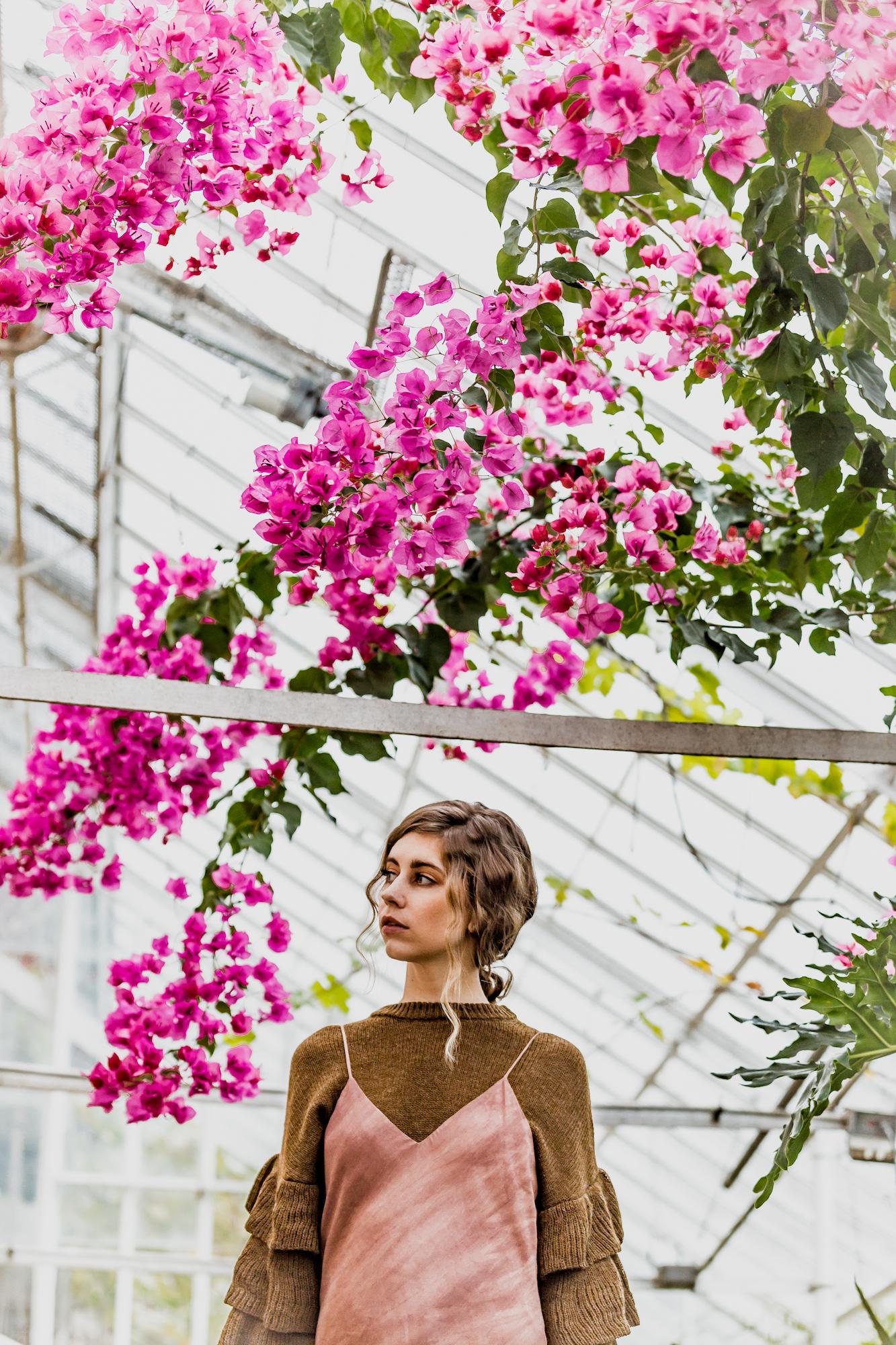 botanical floral photo shoot