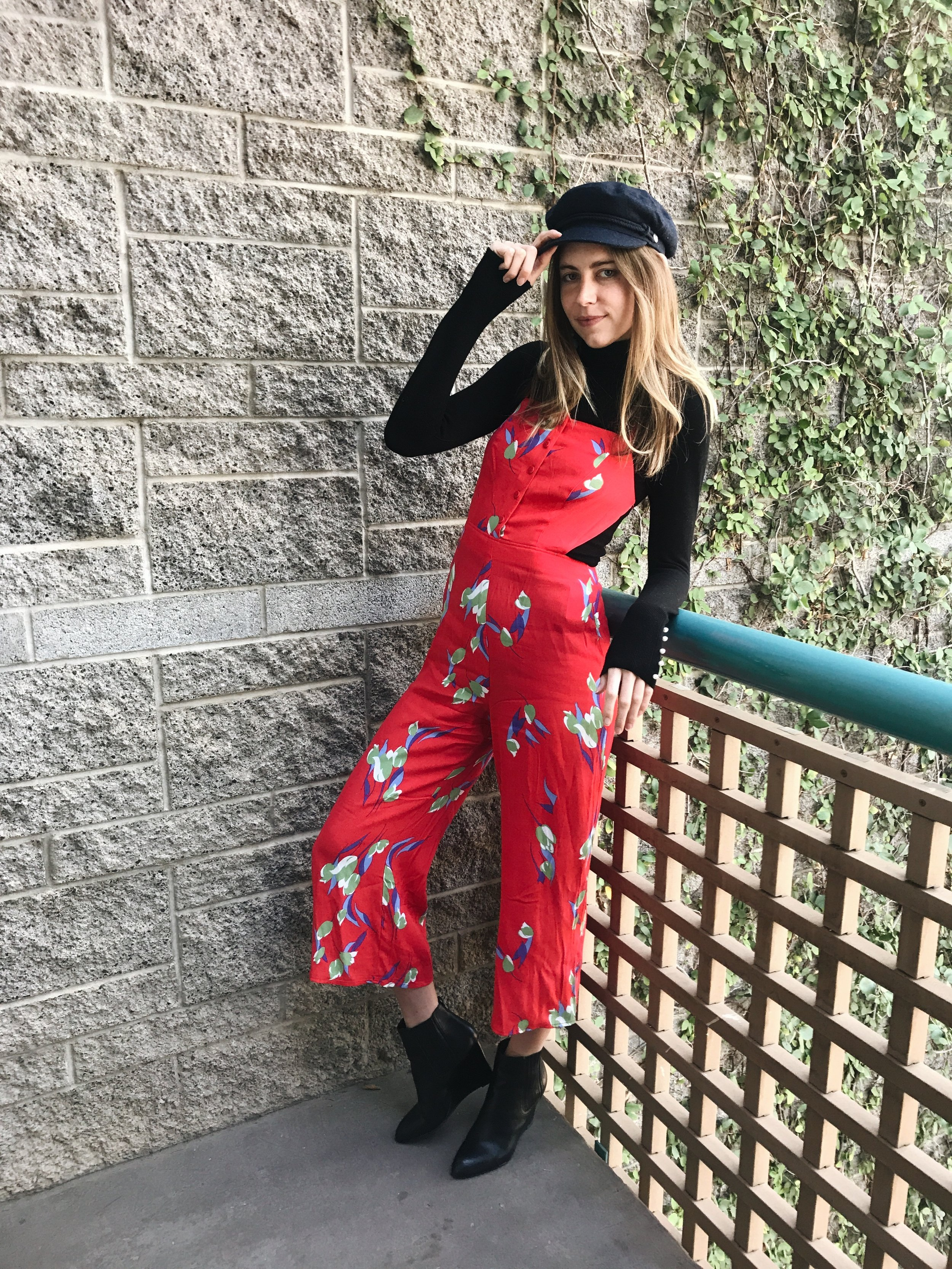 Jumpsuit and Turtleneck Outfit