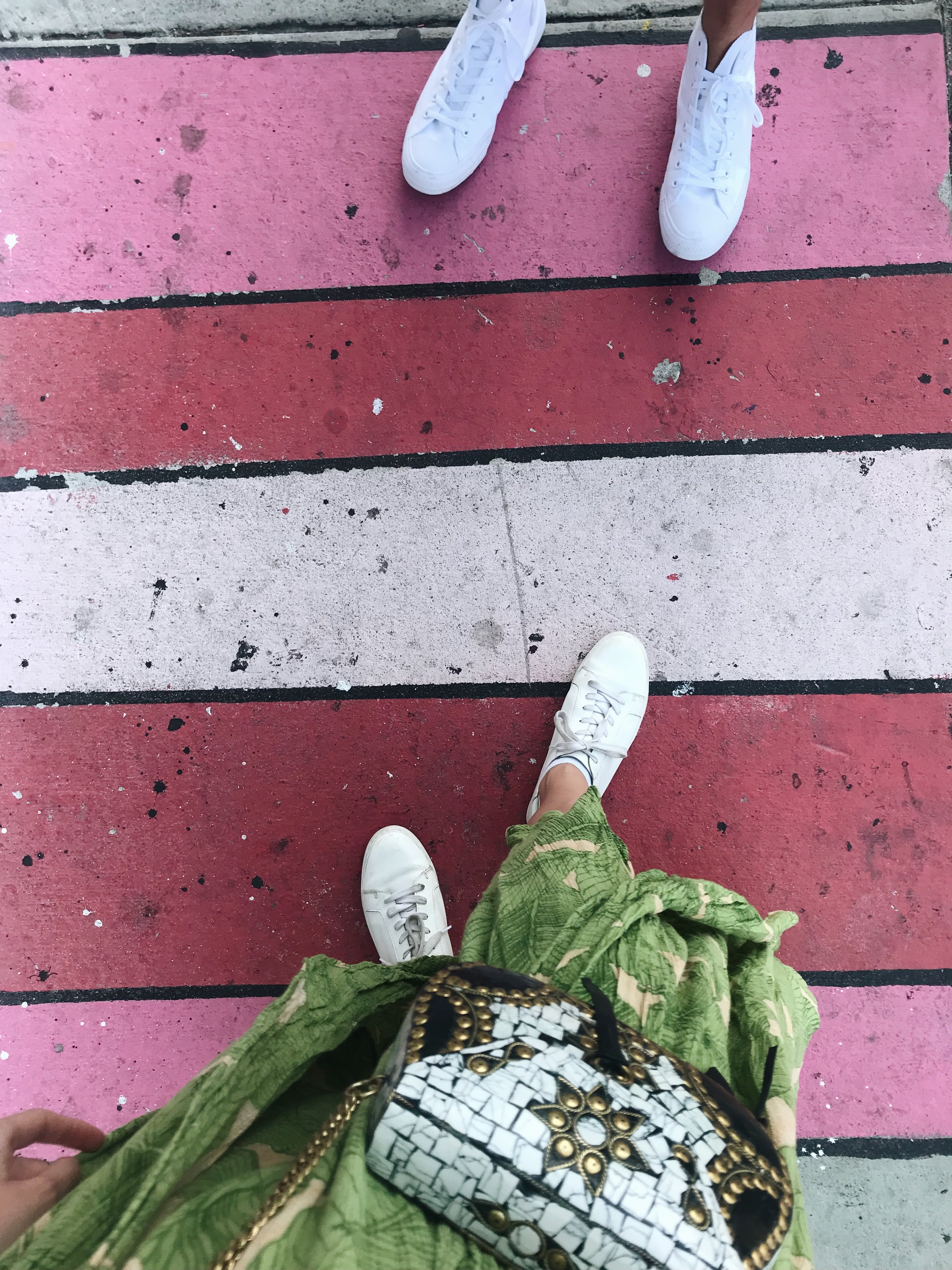 white sneaker style