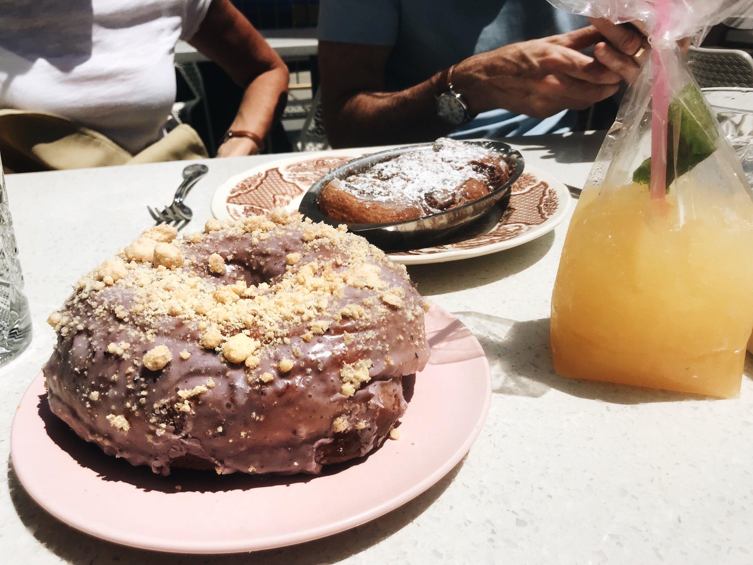 The donut and cinnabun monkey bread.